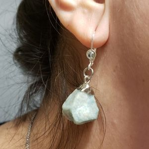 Natural Raw Amazonite Earrings